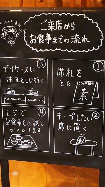 MUJIカフェ看板1