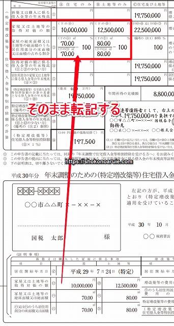 住宅借入金等特別控除申告書兼証明書