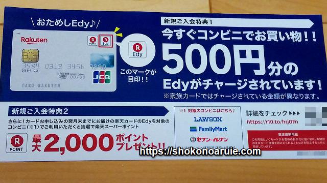 edy500円分